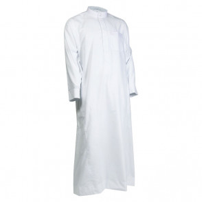 JUBBA MENS- BOYS -JUBBAH --THOBE-JUBBA -- BLACK/ WHITE - QUALITY