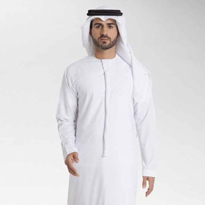 ZMK Men's Robe Thobe With Long Sleeves Arab Muslim Wear 2