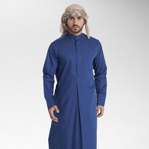 ZMK Men's Robe Thobe With Long Sleeves Arab Muslim Wear 1